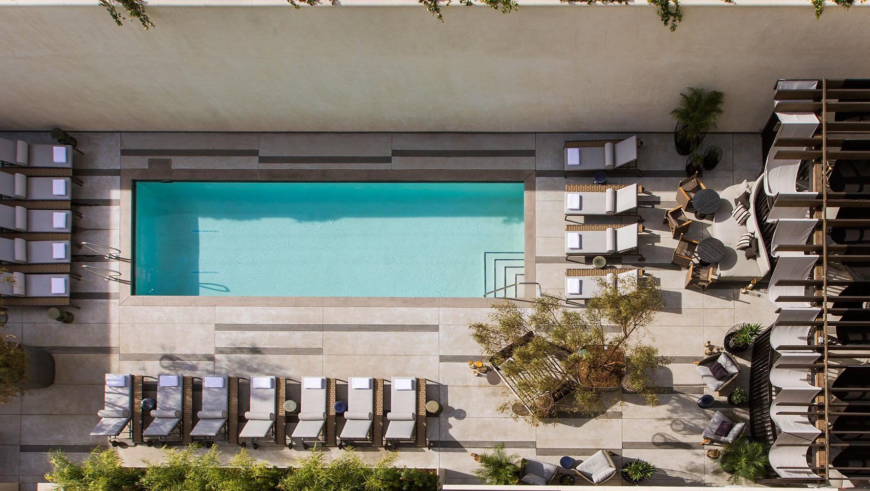 hotel outdoor pool. Kimpton Los Angeles La Peer Hotel Outdoor Pool Oasis