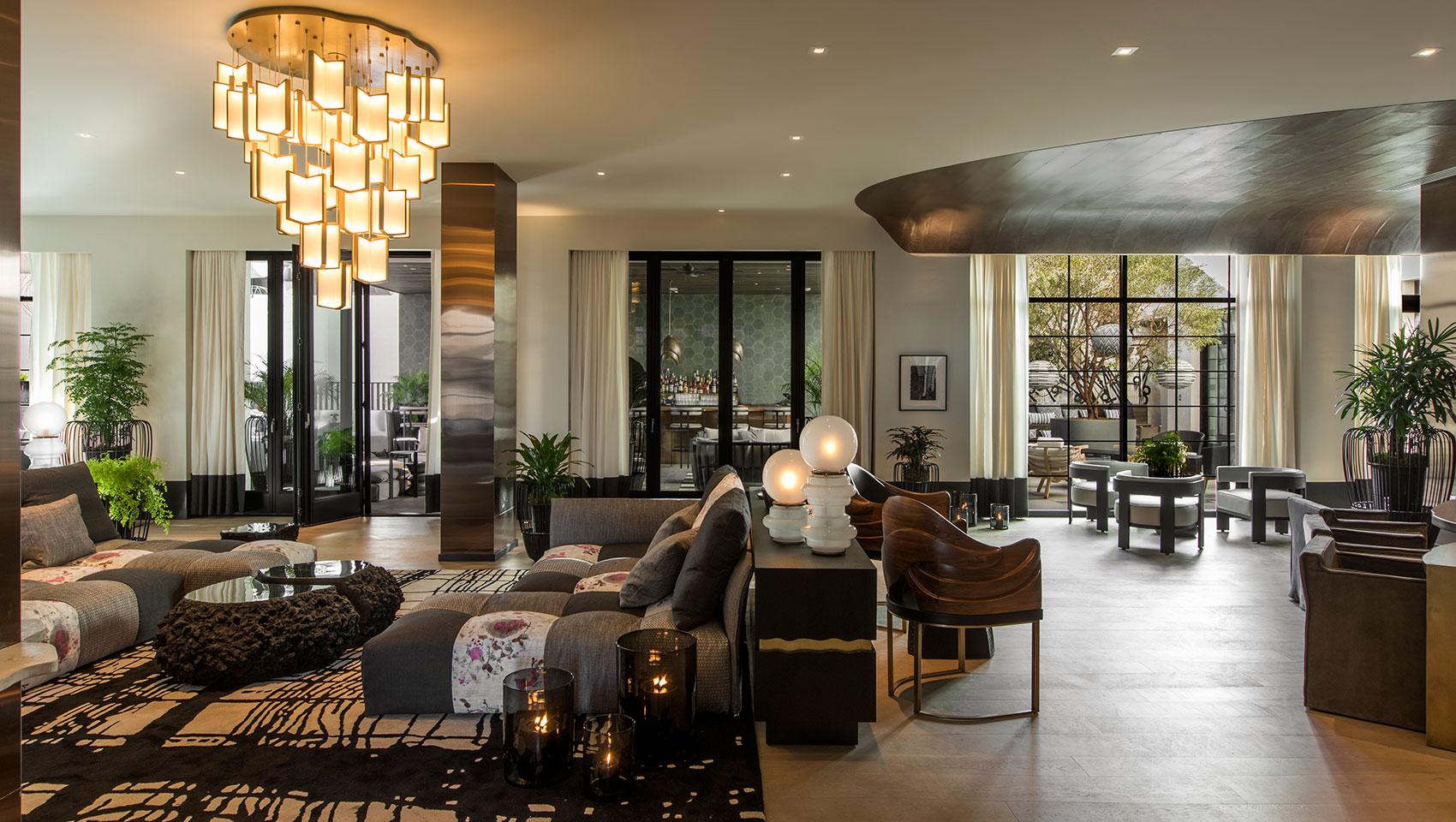 Kimpton Los Angeles La R Hotel Lobby Living Room