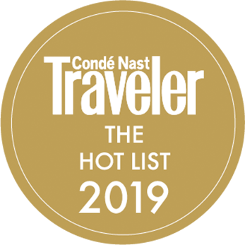 Conde Nast Traveler The Hot List 2019 seal