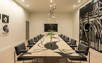 kimpton los angeles la peer hotel boardroom meeting