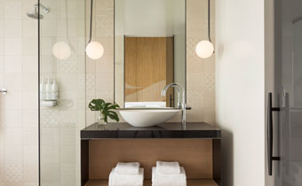 kimpton los angeles la peer hotel Design Suite bathroom vanity