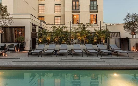 Kimpton LaPeer Pool with Lounge Chairs